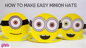 How To Make A Minion Out Of Construction Paper - how to make easy minion hats