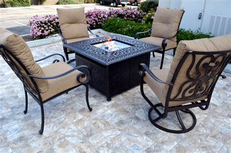 patio pit table sets conversation patio set propane pit table outdoor cast