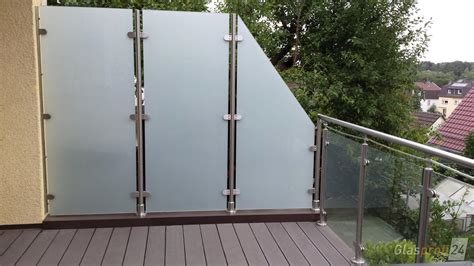überdachung Glas Preis by Balkon Sichtschutz Glas Preis Balkongelander Edelstahl