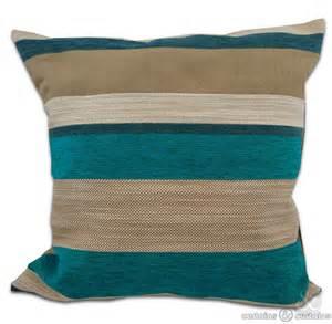 Cushions Teal Teal Chenille Stripe Modern Cushion Cover Curtains And