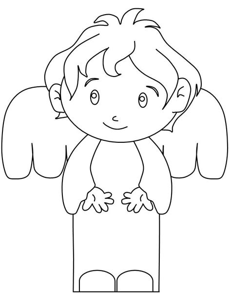 Boy Angel Coloring Page   50 best christmas angels images on pinterest christmas