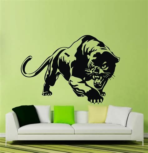 cheetah wall stickers jungle animal panther wall sticker cheetah wall decals modern wall decor by colorful