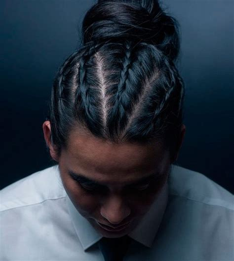 men bun hairstyle with braids for black men and faded on the sides 20 new super cool braids styles for men you can t miss