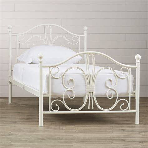 White Iron Beds by White Metal Bed Frame Size Headboard Footboard