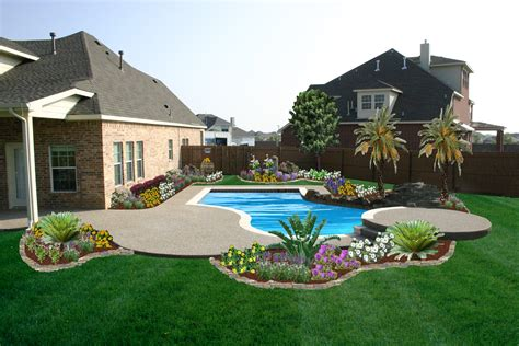Pool Backyard Design Decobizz Com Backyard Landscaping With Pool