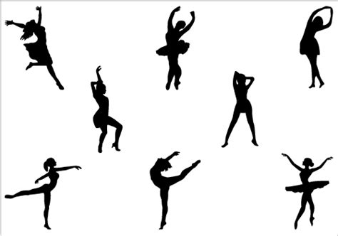 Wall Borders Stickers dancer 20clipart silhouettes pinterest dance