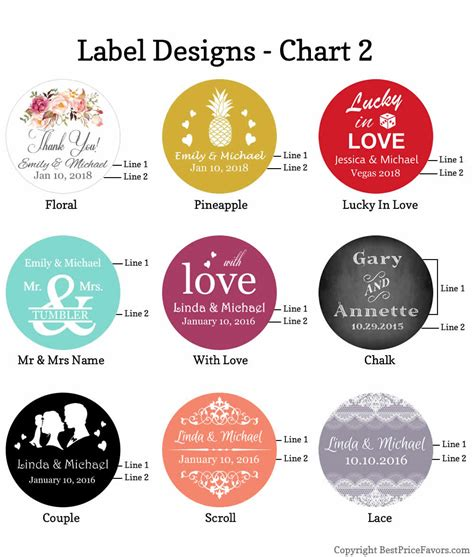 label design cost personalized glass candy jar wedding favors free assembly