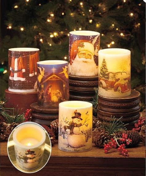 battery lighted christmas decorations led christmas candle window centerpiece holiday flameless