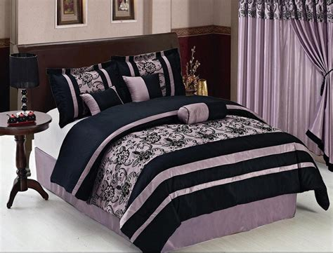 purple and black comforter sets queen 7 piece queen purple and black floral comforter set ebay