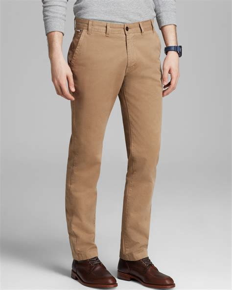 Chinopants Zlstore barbour pantone collection chino in khaki for brown lyst