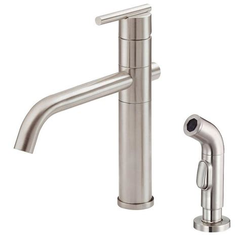 danze kitchen faucet reviews shop danze parma stainless steel 1 handle high arc deck