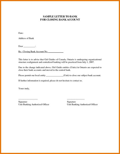 closing account formal letter letter format bank account copy 10 bank account