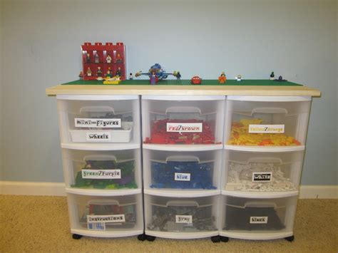 how to make storage containers how to make a lego table with storage containers three
