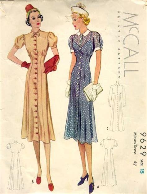 womens fashion mid thurtys 1930 1939 fashion through the decades