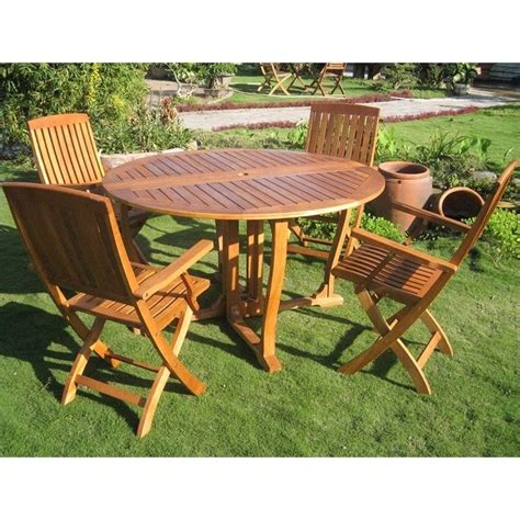 Patio Dining Sets Wood 5 Wood Patio Dining Set Tt Rt 005 Fa 040 4ch
