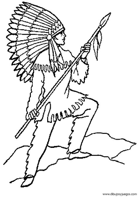 Image Dibujos De Indios 033 Gif Download Indios Para Colorear