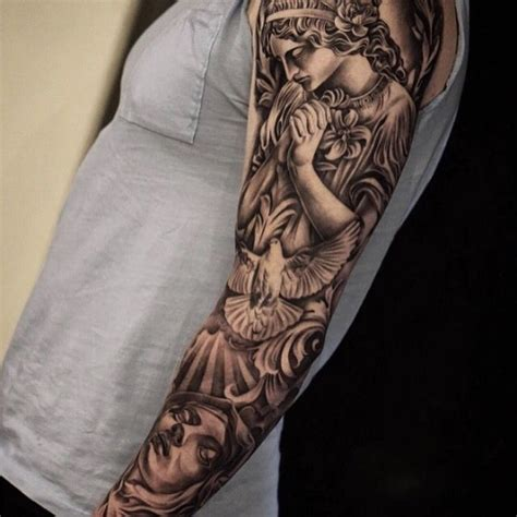 angel tattoo sleeves sleeve designs ideas and meaning tattoos