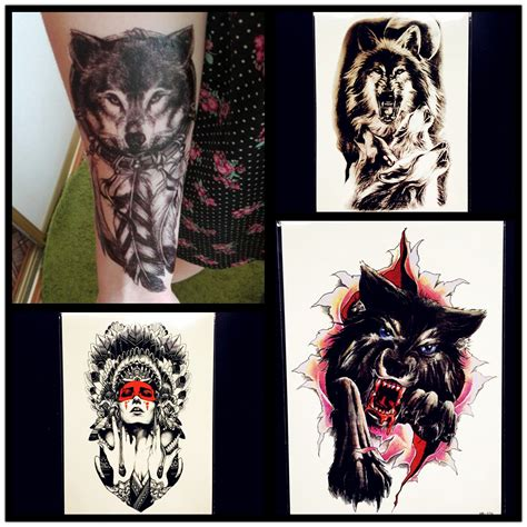henna tattoo wolf new water transfer wolf henna waterproof
