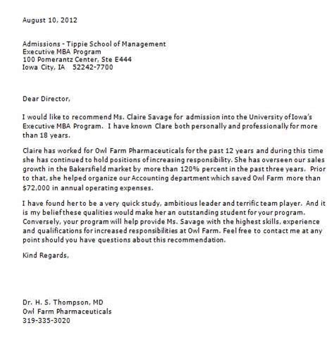 Letter Of Recommendation Mba letter of recommendation for mba admission 2018 2019