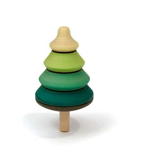 spinning tree around santa toy spinning wooden tree top