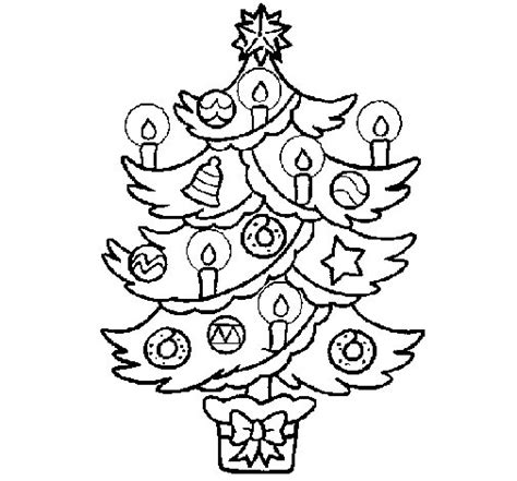 Christmas Tree With Candles Coloring Page Coloringcrew Com Tree With Candles Coloring Page