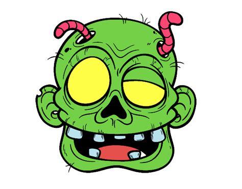 imagenes de halloween zombies dibujo de cara de zombie con gusanos pintado por en