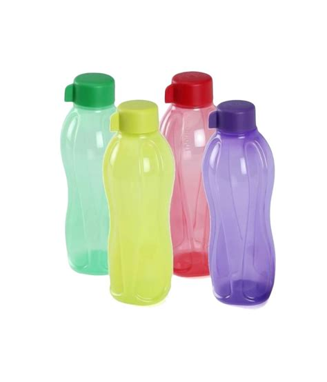 Tupperware Botol 1 Liter tupperware 1 litre aquasafe water bottle set 4 pcs available at snapdeal for rs 885