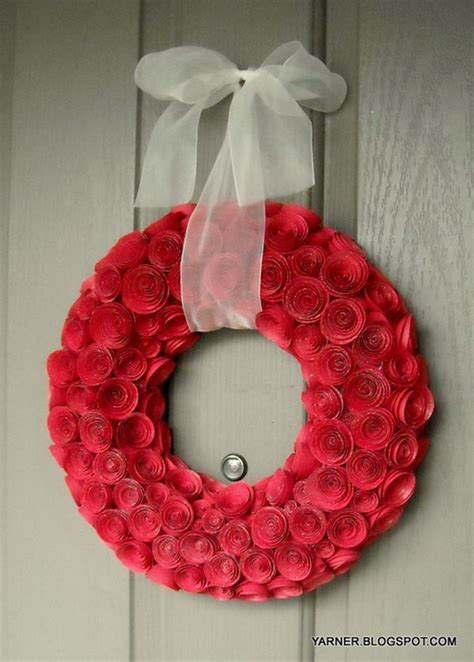 paper flower wreath tutorial 30 creative diy wreath ideas and tutorials noted list
