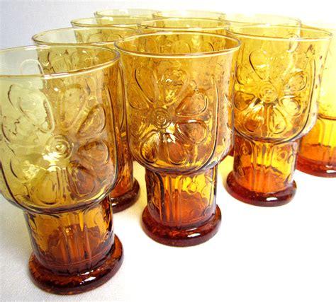 Swung Glass Vase Let S Start A Trend Vintage Amber Glass Vintage Goodness