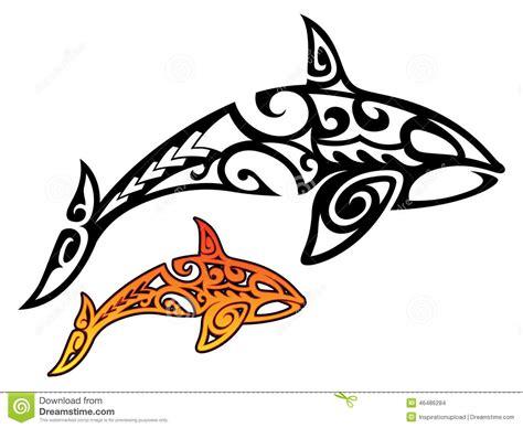 orca tribal stock de ilustraci 243 n imagen 46486284
