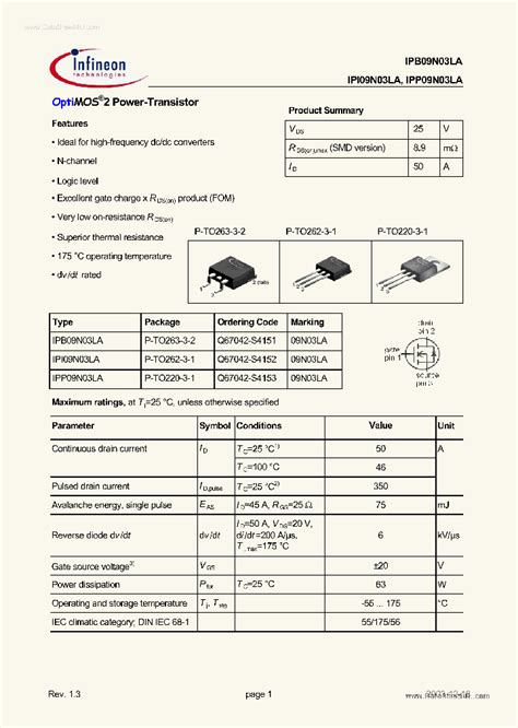 datasheet c828 transistor pdf 09n03la 42411 pdf datasheet ic on line