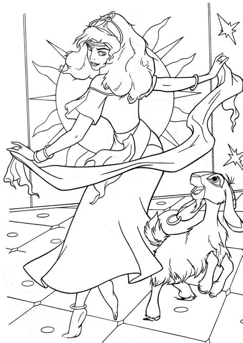 disney esmeralda coloring page the hunchback of notre dame coloring pages pinterest