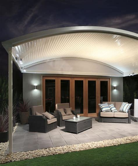 stratco awning stratco outback curved roof awnings carports pergolas