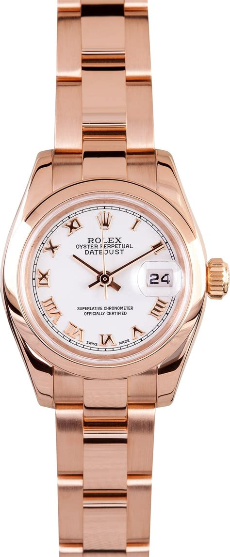 Rolex Datejust Combi Rosegold rolex datejust gold save at bob s watches