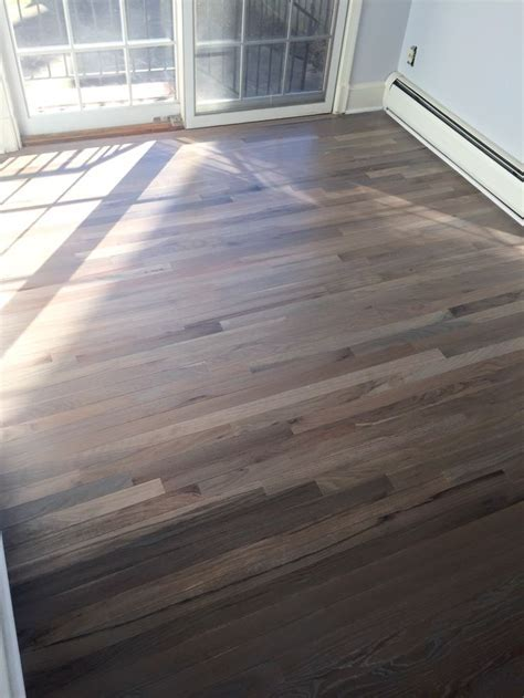 Refinished red oak flooring with Rubio Fumed and Rubio 5%