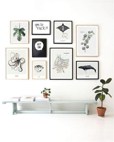 imagenes en cuadro negro decoraci 243 n con cuadros ideas para decorar con cuadros