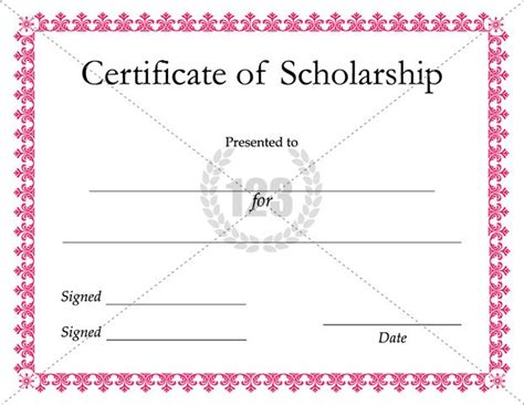 free templates for scholarship awards most useful scholarship certificate templates for the