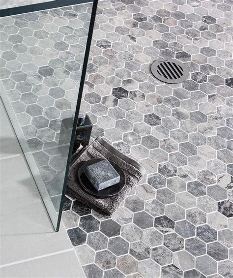 gray floor bathroom lantau grey mosaic hexagonal topps tiles madalena