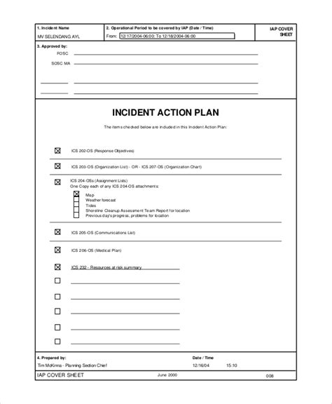 incident action plan major incident action cards cuh