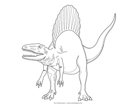 spinosaurus coloring sheet coloring pages