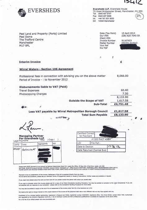 section 106 agreements 3 invoices about the wirral waters section 106 agreement