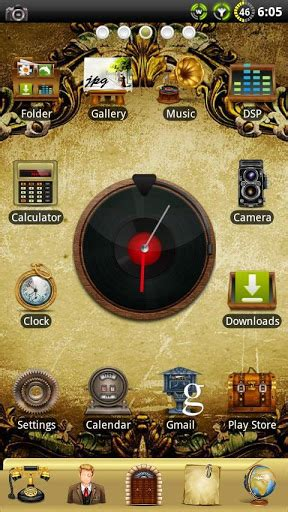 vintage themes for android download vintage go launcher theme for android vintage go