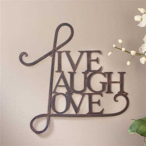 live laugh home decor tripar live laugh wall decor reviews wayfair