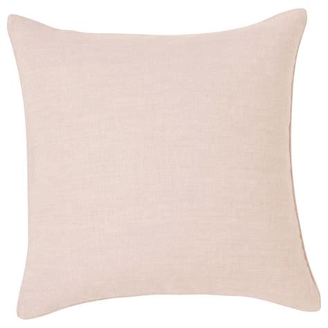 Pale Pink Cushion Cover   Large Linen   OKA