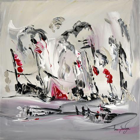 Tableau Peinture Blanc by Tableau Abstrait Gris Noir Blanc Argent