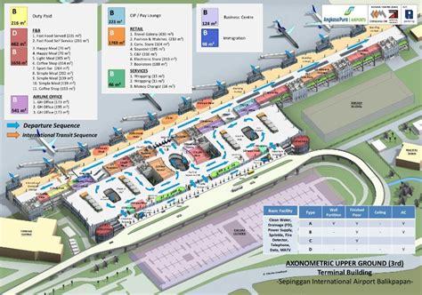 Layout Bandara Sepinggan | bpn sepinggan international airport balikpapan east