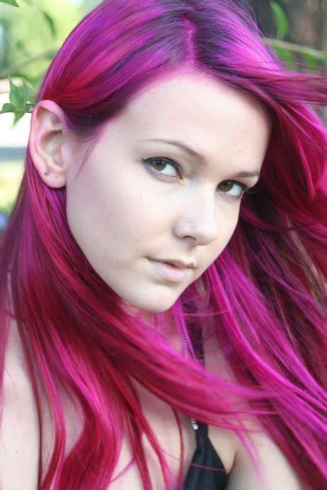 fuchsia hair color best 25 fuschia hair ideas on violet hair