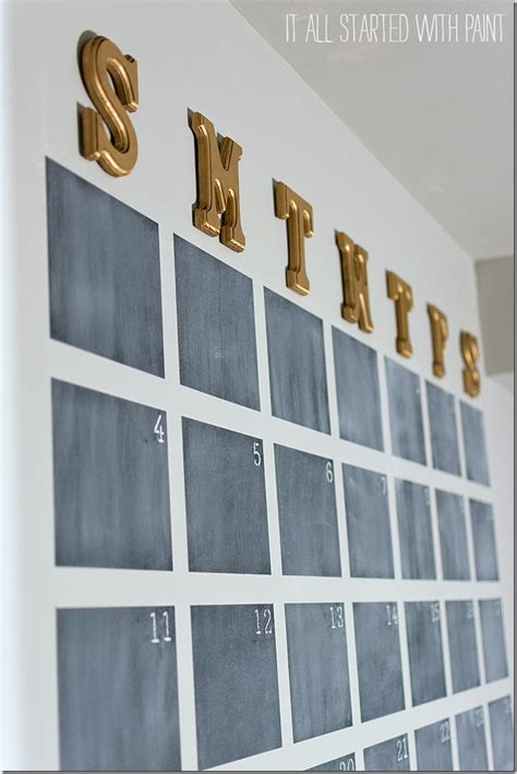 diy chalkboard wall calendar chalkboard wall calendar diy it all started with paint
