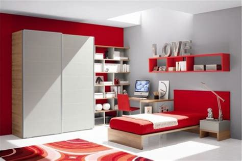 Awesome Chambre Bebe Fille Orange  #13: Room-for-teens-girl-red-office-picture.jpg