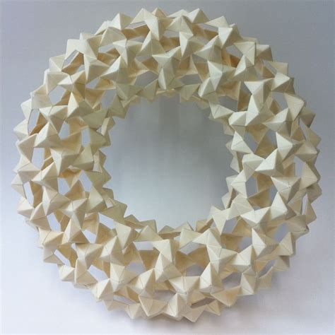Modular Origami Wreath - best 25 modular origami ideas on origami 3d